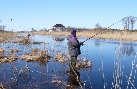 Ловля рыбы весной в марте