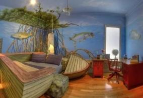 Дизайн интерьера для комнаты рыбака